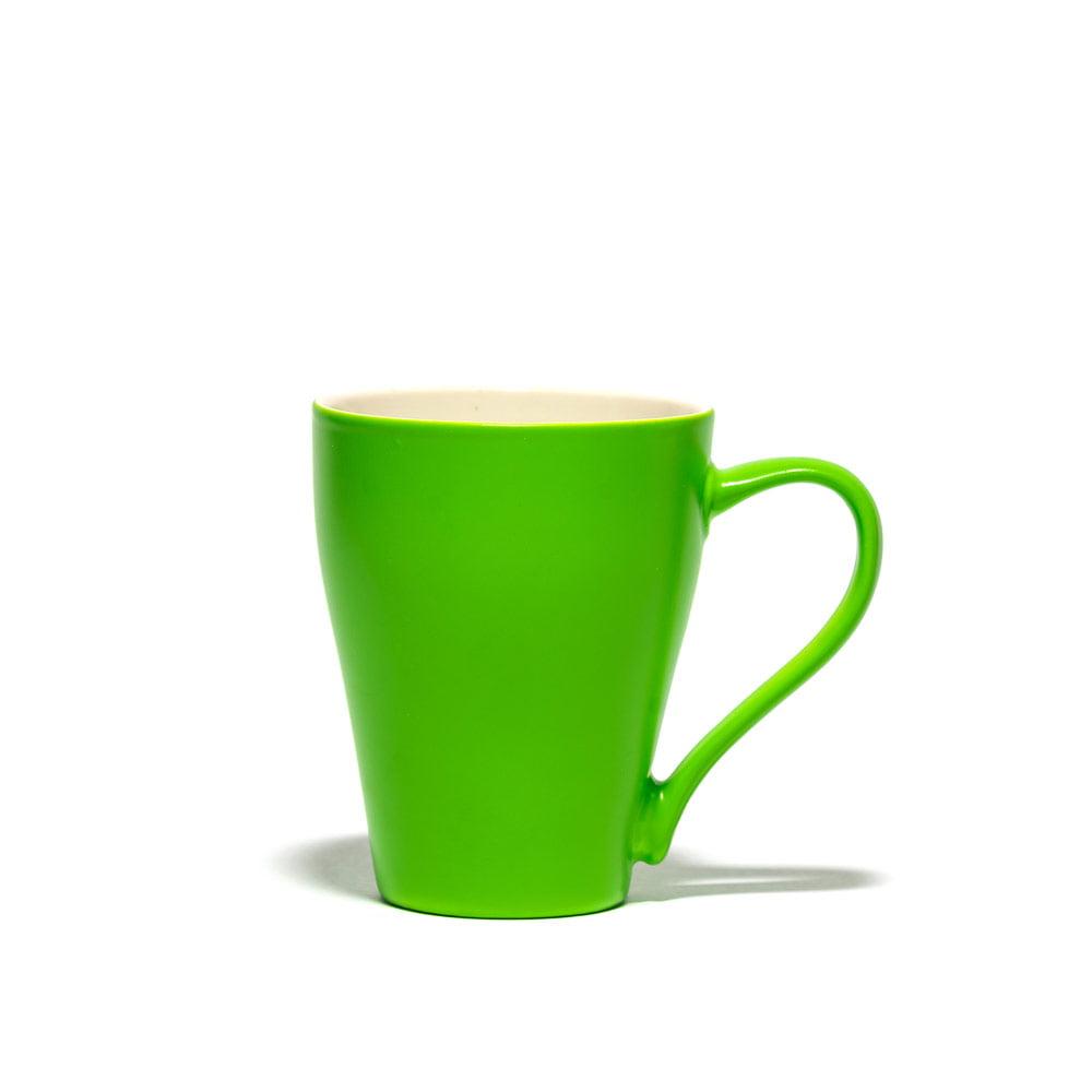 لیوان سرامیکی دسته دار شبرنگ طرح آلاله ظرفیت 330 سی سی (6 رنگ)