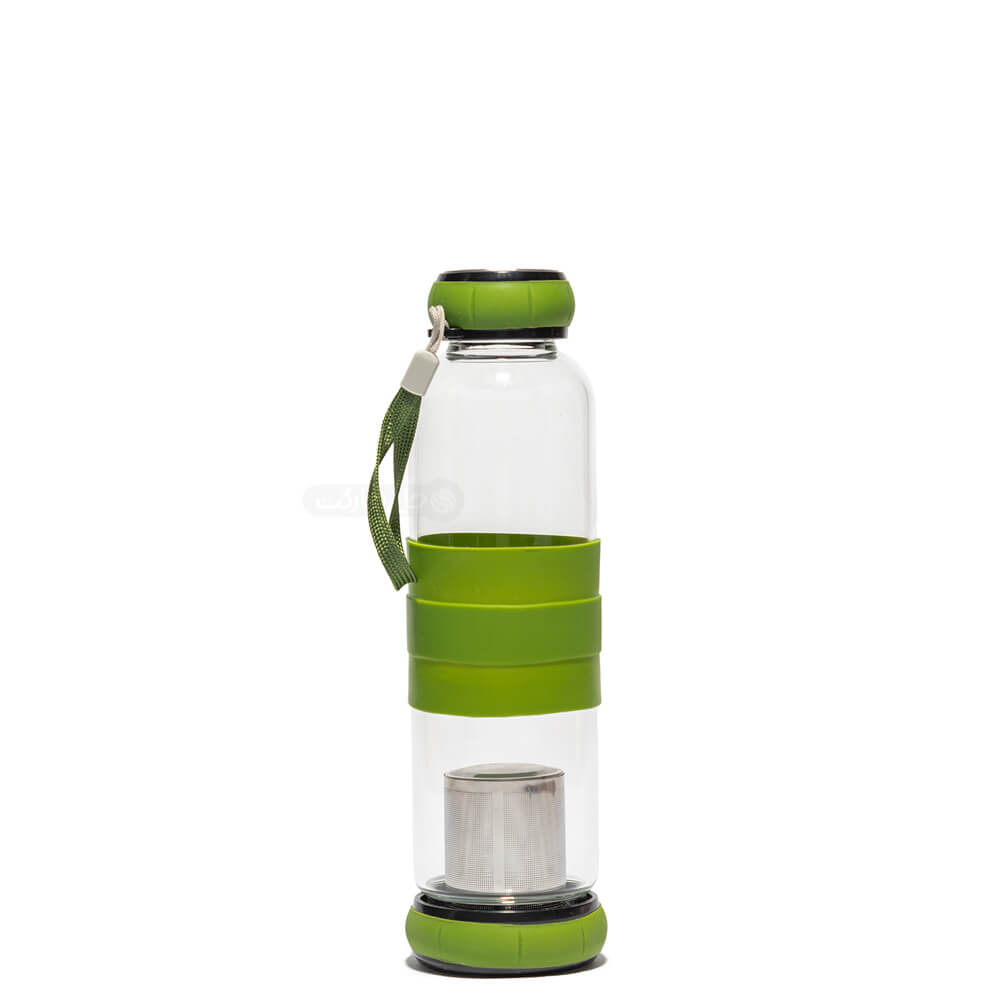 بطری دمنوش و دیتاکس واتر فیلتر دار درب و کف باز شو ظرفیت 450 سی سی (چهار رنگ)