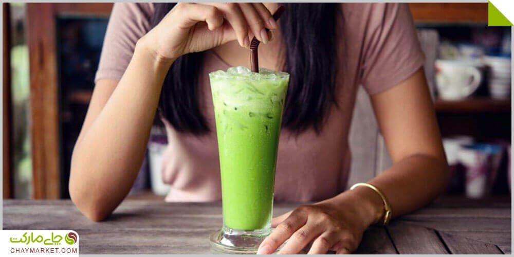 چای سبز ماچا سرد