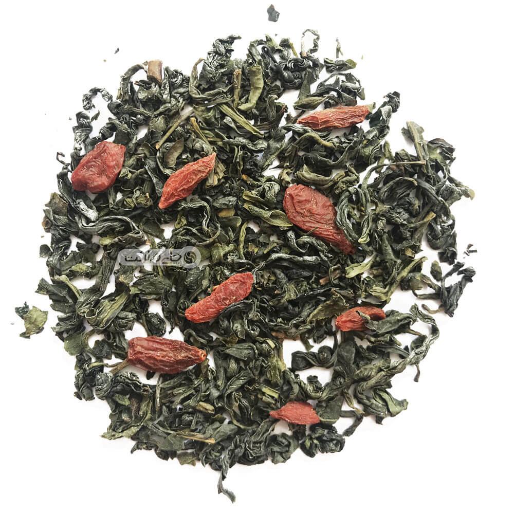چای سبز و گوجی بری