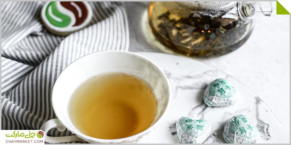 چای پوئر طرح قلب