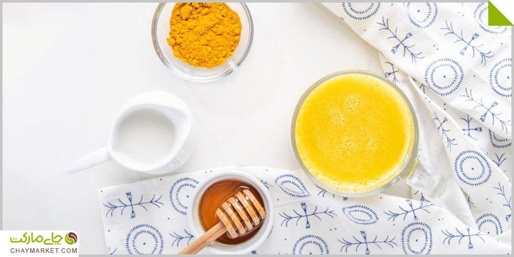 چای زردچوبه با عسل