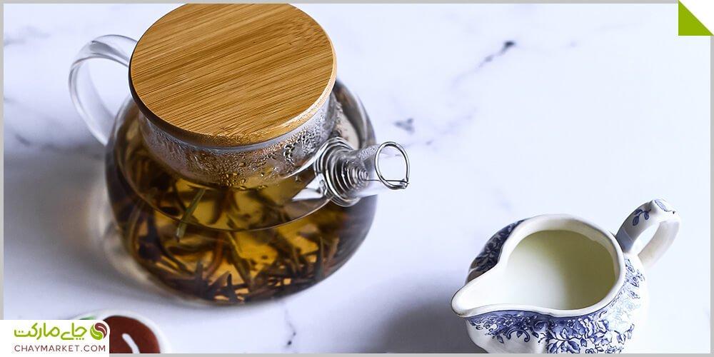 چای سفید و بلوبری