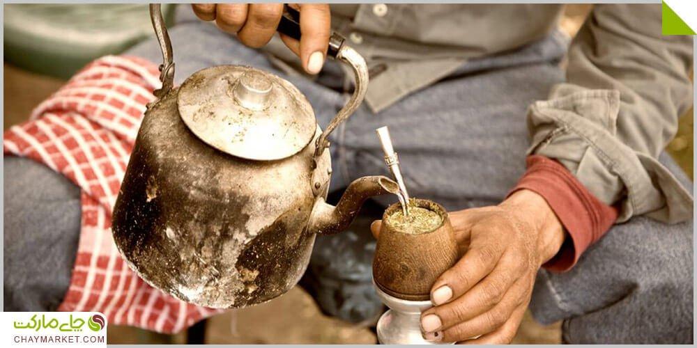 """چای یربا ماته خالص سبز ُرست نشده <div class=""""dscpn"""">انرژی زا، شادابی بخش، تقویت عملکرد بدن، سرشار از آنتی اکسیدان، ضد سرطان</div>"""